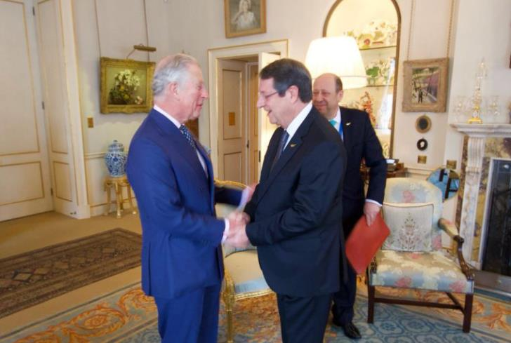 President Anastasiades to meet Prince Charles in Nicosia on March 19