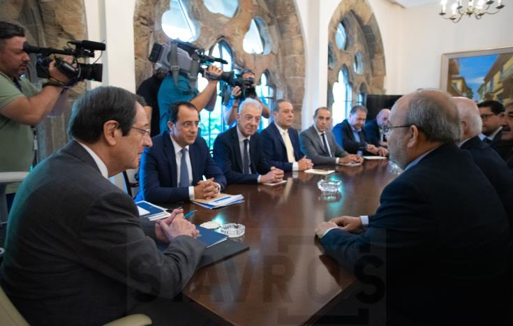 Meeting at Presidential Palace to decide action in response to Turkish provocations in Famagusta