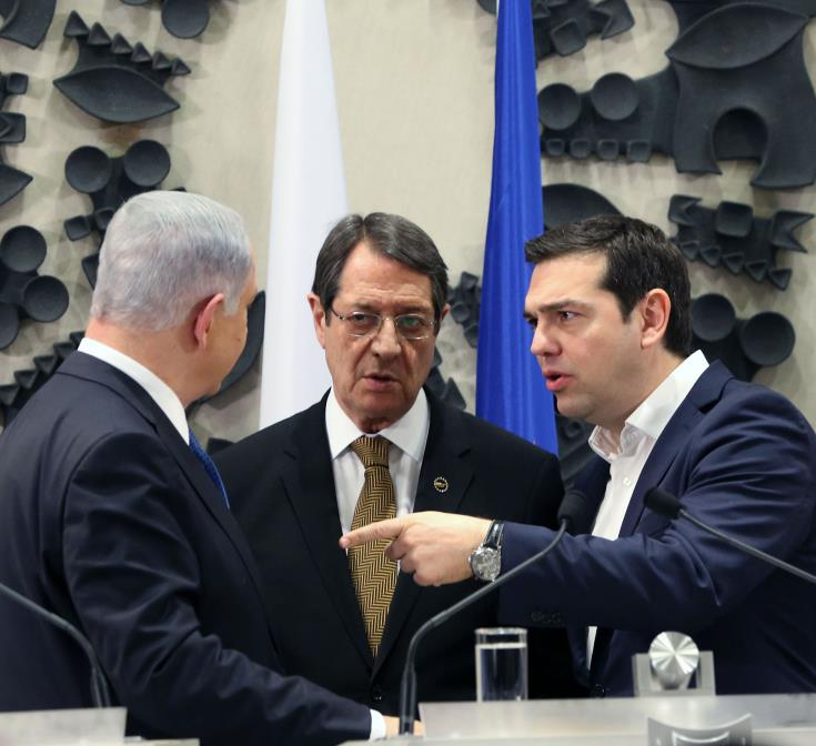 Cyprus - Greece – Israel trilateral cooperation at a Summit of the Economist in New York