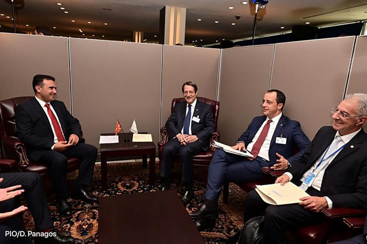 Cyprus President and North Macedonia PM discuss the development of the two countries' relations