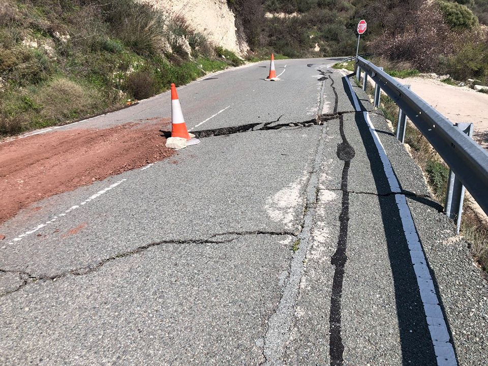 Another road cracks in Paphos (photo)