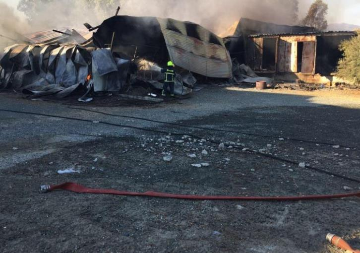 Fire fighters battle Arediou warehouse fire overnight (photos)