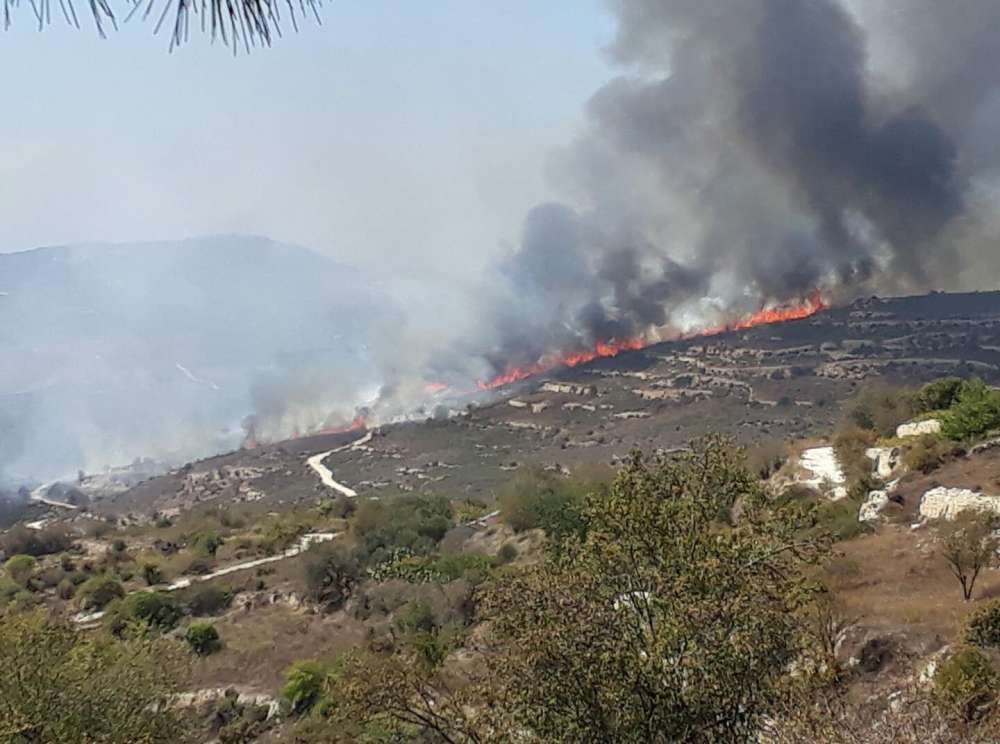 Arsos fire contained; 2 square km burnt