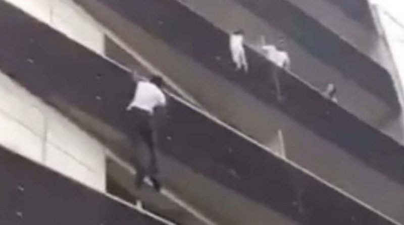 'Real life Spiderman' climbs four floors to rescue boy hanging off balcony