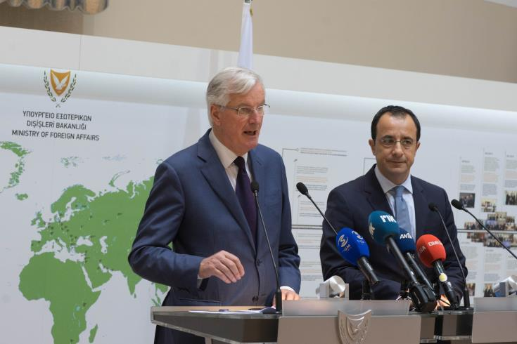 Barnier reiterates that the EU is ready to respond to Turkish provocations in Cyprus' EEZ