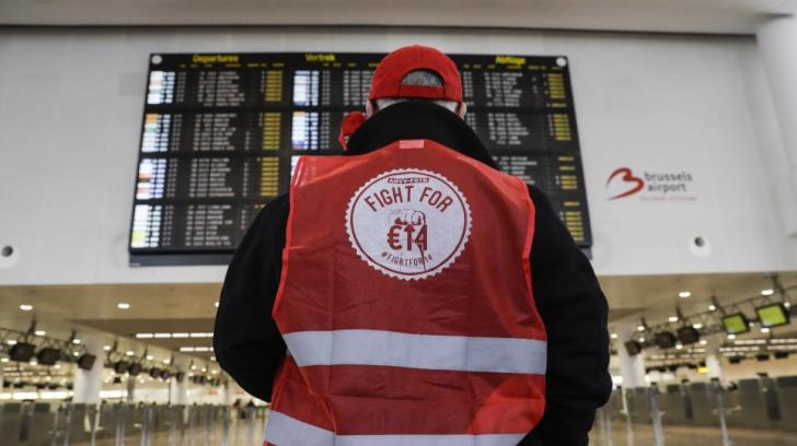 Belgium cancels all flights as workers stage national strike