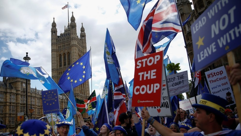 UPDATE - British lawmakers willing to go to court to enforce Brexit delay