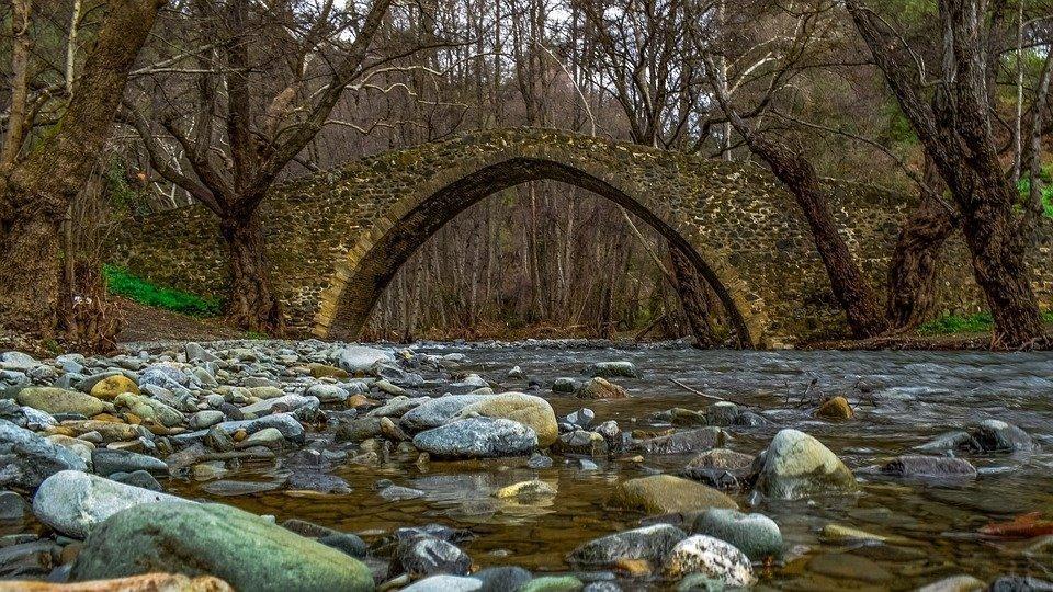 Bridge, Old, Architecture, River, Stones, Trees