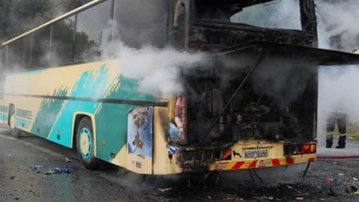 Fire breaks out on bus on Limassol-Nicosia highway