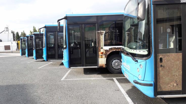 Limassol bus drivers strike for second day