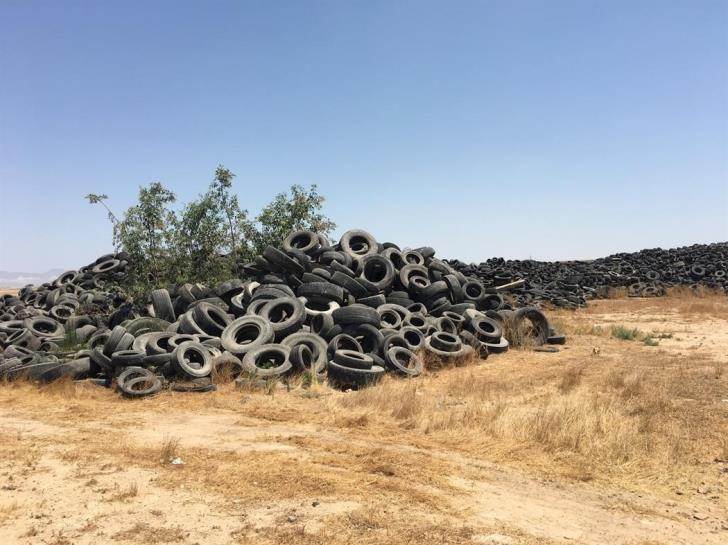 Bureaucracy gridlock delays relocation of used tyre stockpile at Dali