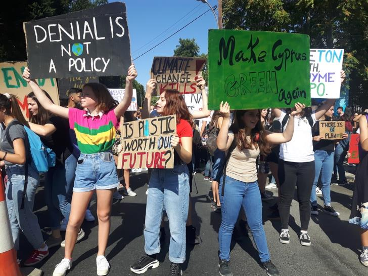 Youth in Cyprus take to streets in climate change protest (Photos)
