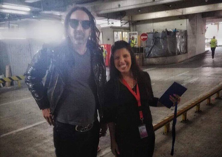 Nicolas Cage arrives in Cyprus (photo)