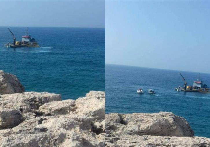 Capsized boat salvaged from Xylofagou bay (video)