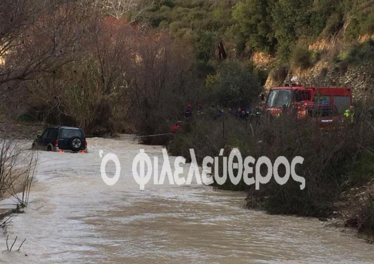 Fire services rescue 5 from cars in 24 hours; tell drivers to stay away from streams (video)