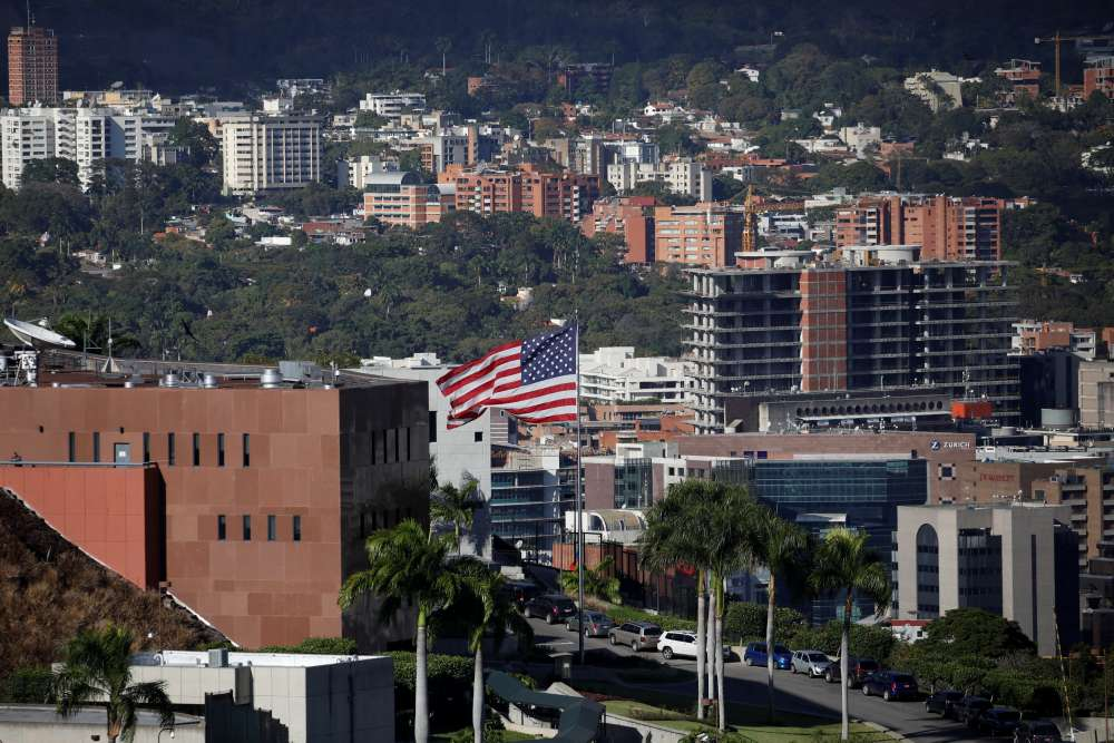 U.S. diplomats leave Caracas embassy as Washington backs Maduro rival
