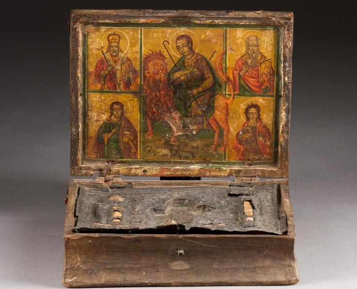 St. Mamas casket