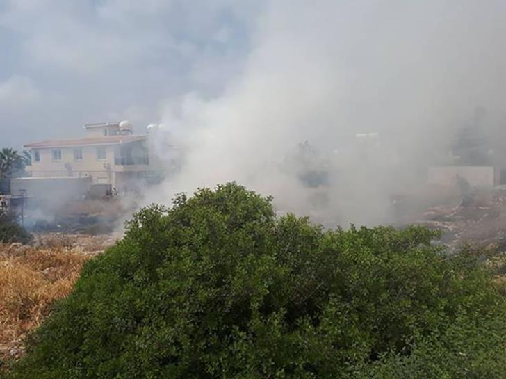 Fire broke out near Chloraka's residential area
