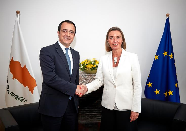 Mogherini: EU is standing united in solidarity with Cyprus