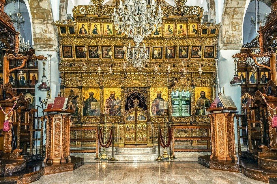 Church, Interior, Monastery, Architecture, Orthodox