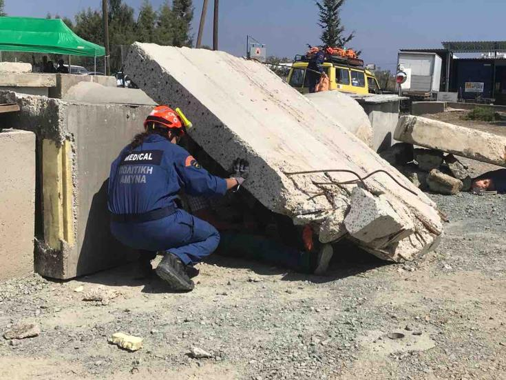 Civil Defence search & rescue exercise takes place in Larnaca