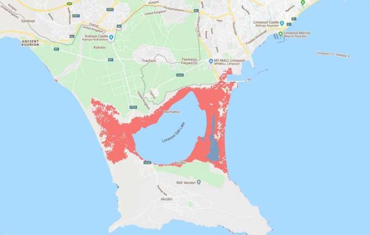 Akrotiri and Larnaca Airport at risk of sinking