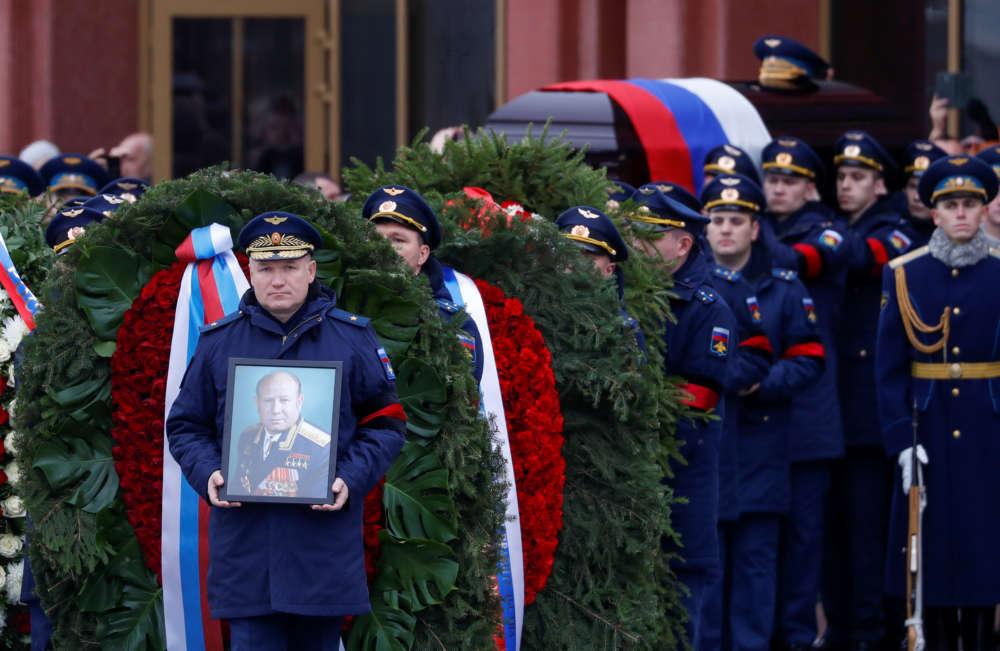 Russia buries cosmonaut Alexei Leonov