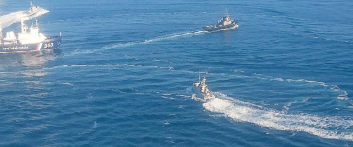 Russia fires on and seizes Ukrainian ships near annexed Crimea