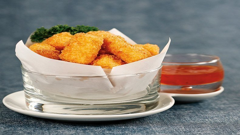 Polenta and cheese croquettes