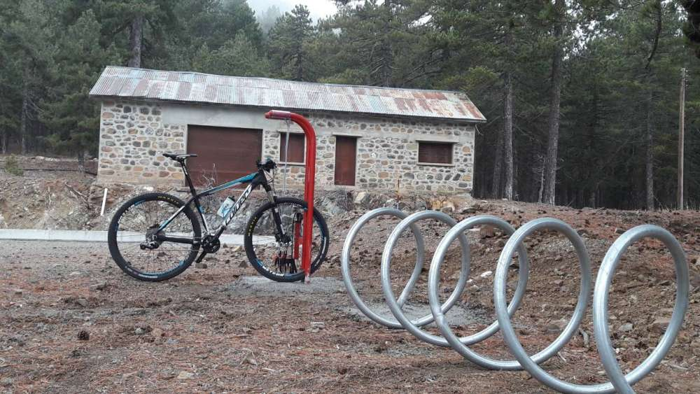 Facilities for cyclists at Troodos national park