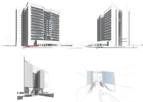 New multi-storey development at the entrance of Nicosia