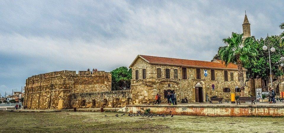 Cyprus, Larnaca, Castle, Promenade, Beach, Seashore