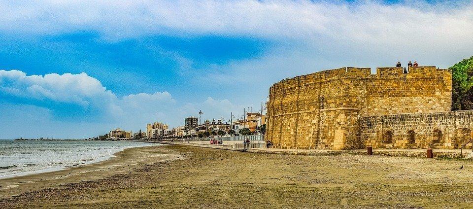 Cyprus, Larnaca, Fortress, Castle, Beach, Seaside