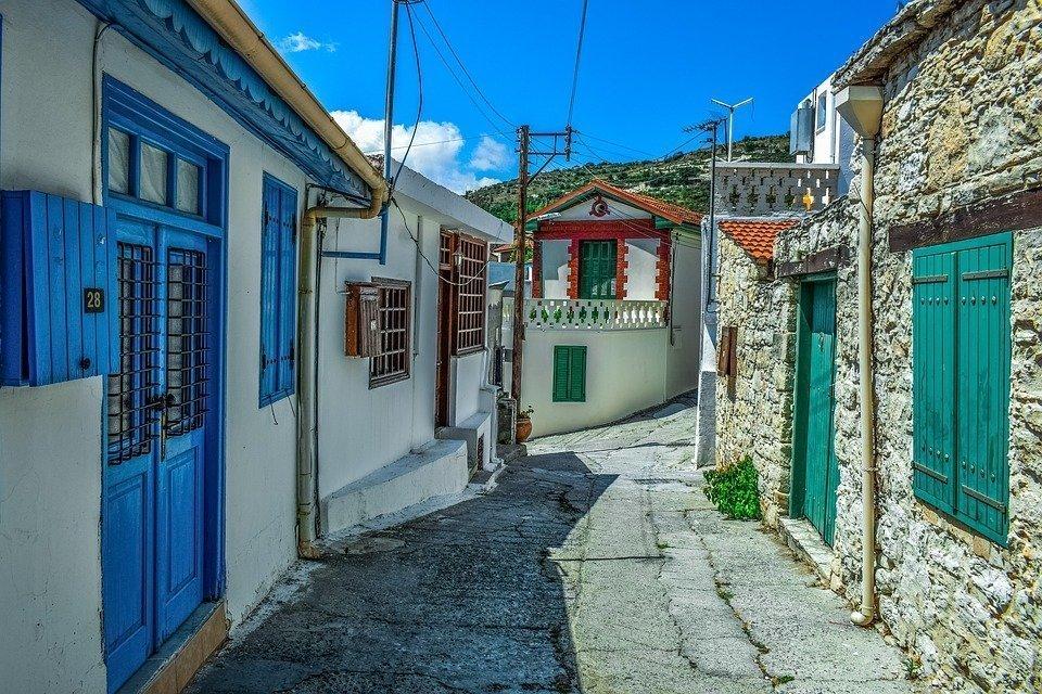 Cyprus, Omodos, Village, Street, Houses, Architecture