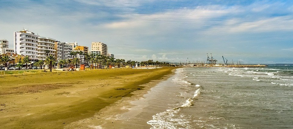 Cyprus, Larnaca, Town, Beach, Sea, Travel, Seaside