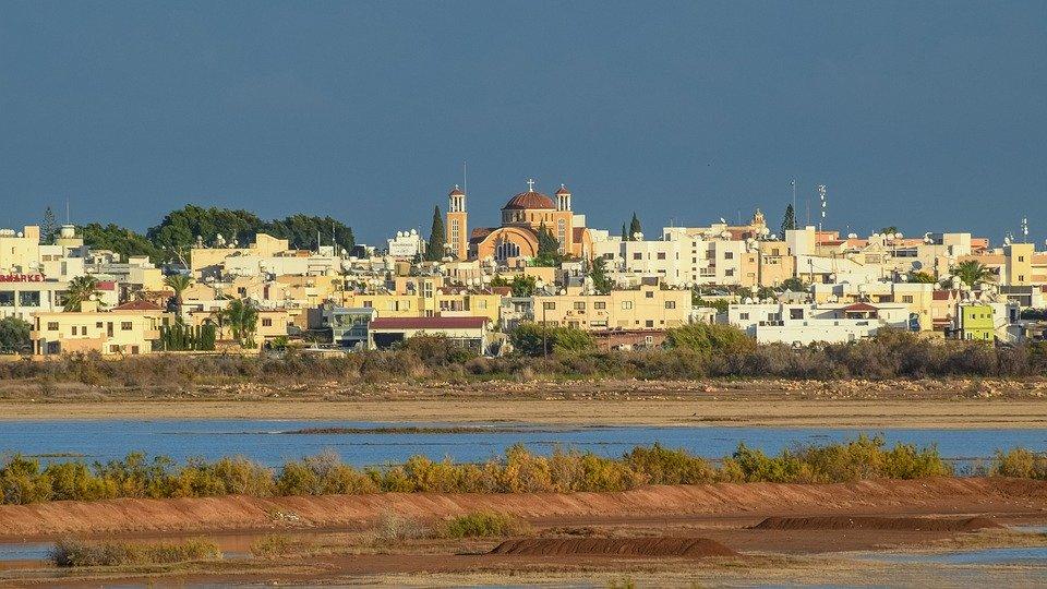 Cyprus, Paralimni, Town, View, Lake, Architecture