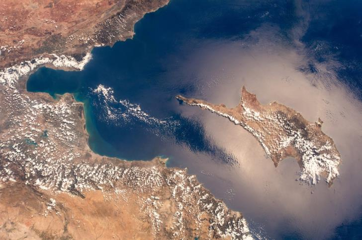 German astronaut photographs Cyprus from space