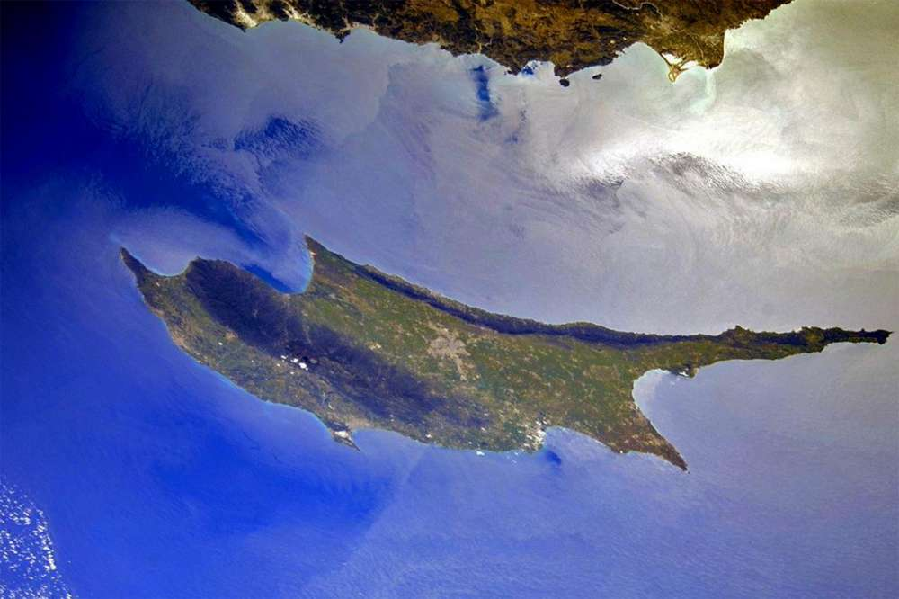 Green Cyprus captured from space