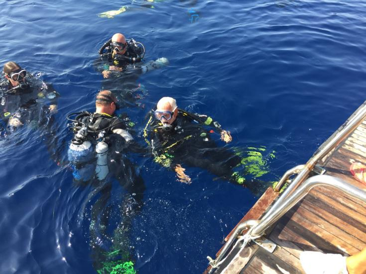 British diver marks 95th birthday with dive at Zenobia wreck