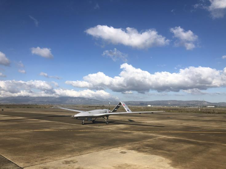 First Turkish military drone lands at Turkish-occupied Lefkoniko