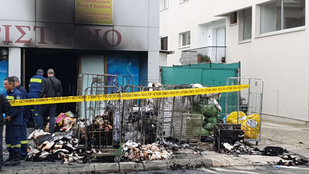 Updated: Fire causes extensive damage to dry-cleaner's in Paphos