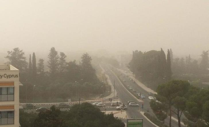 Atmospheric dust levels increase across Cyprus