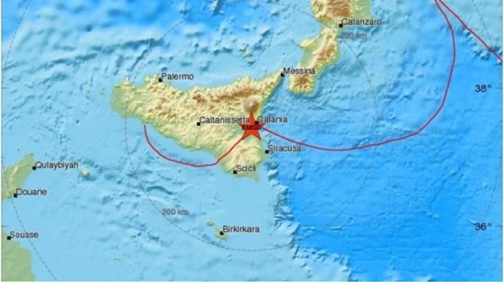 Earthquake hits Catania
