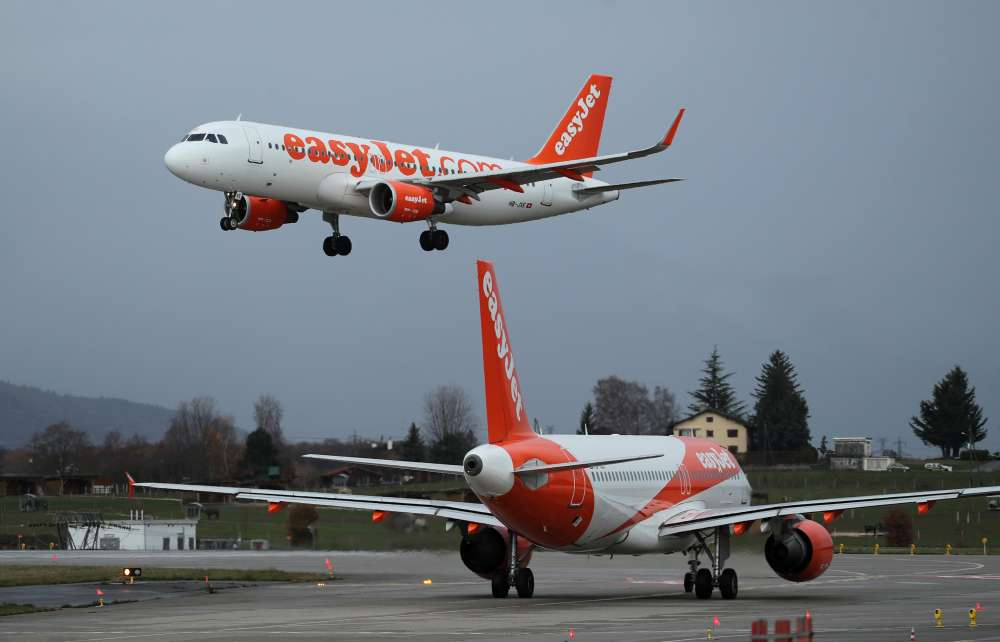 EasyJet sees improved first-half on strong travel demand