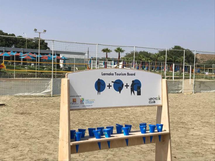 Eco-friendly ashtrays for Larnaca's beaches