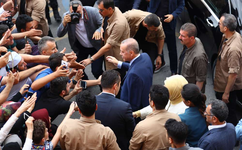 Erdogan claims victory in presidential elections