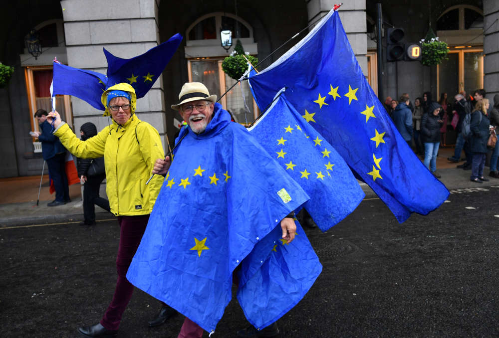 Update: Protesters cheer as British parliament votes to force Brexit delay