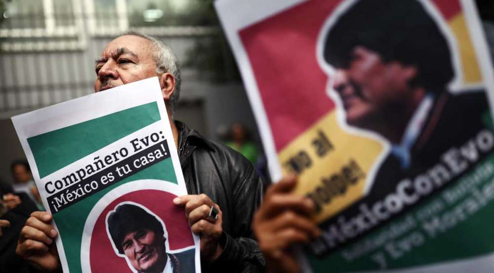 Former Bolivian president Morales heads to Mexico for asylum
