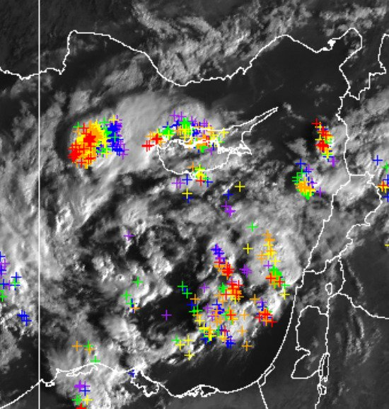 Satellite picture captures thunderstorms round Cyprus