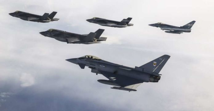 UK F-35 fighter jets fly to Cyprus for first overseas exercise